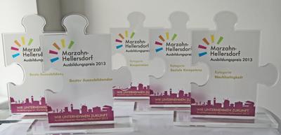 Pokale Bester Ausbildungsbetrieb Marzahn-Hellersdorf 2013